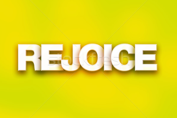 Rejoice Concept Colorful Word Art Stock photo © enterlinedesign