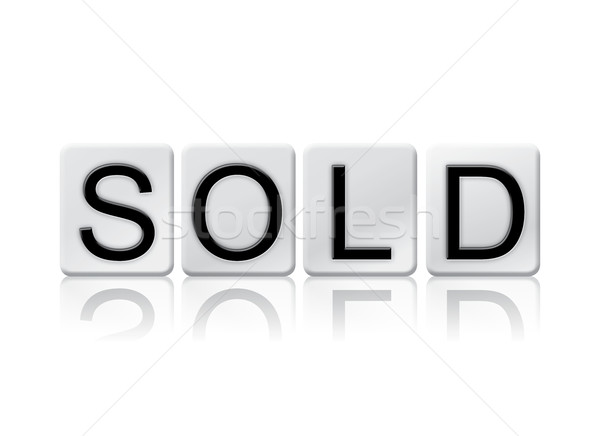 Sold Isolated Tiled Letters Concept and Theme Stock photo © enterlinedesign