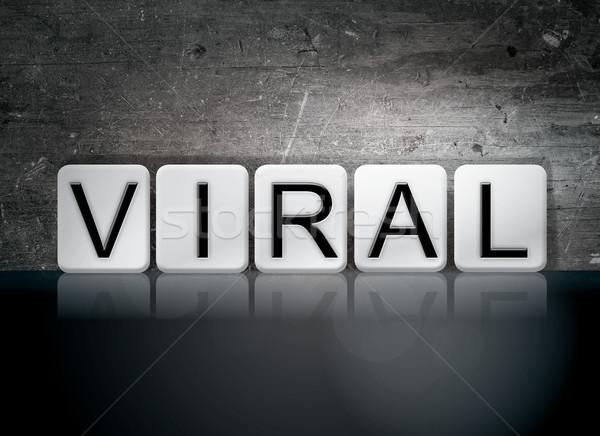 Virale piastrellato lettere parola scritto bianco Foto d'archivio © enterlinedesign