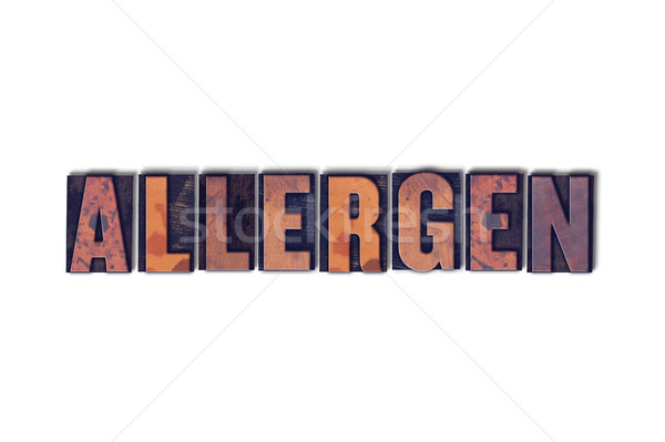 Allergen Concept Isolated Letterpress Word Stock photo © enterlinedesign