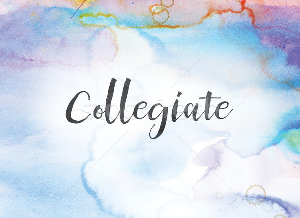 Collegiate Concept Watercolor and Ink Painting Stock photo © enterlinedesign