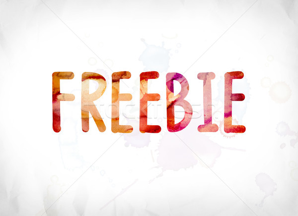 Freebie Concept Painted Watercolor Word Art Stock photo © enterlinedesign