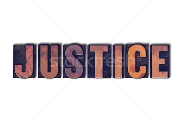正義 孤立した 言葉 書かれた ヴィンテージ ストックフォト © enterlinedesign