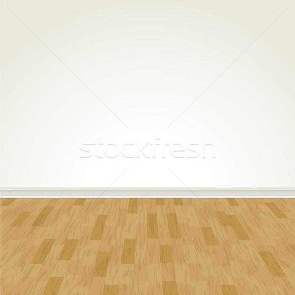 Vetor piso de madeira parede madeira de lei eps Foto stock © enterlinedesign