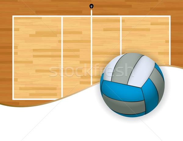 Voleibol tribunal espacio de la copia ilustración habitación copiar Foto stock © enterlinedesign