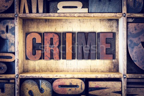 Suç tip kelime yazılı bağbozumu Stok fotoğraf © enterlinedesign