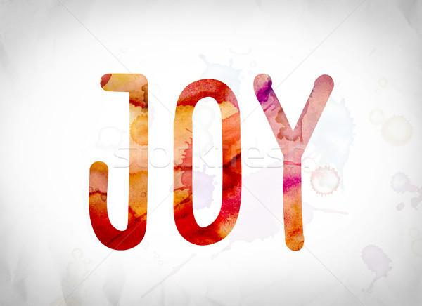 Stock photo: Joy Concept Watercolor Word Art