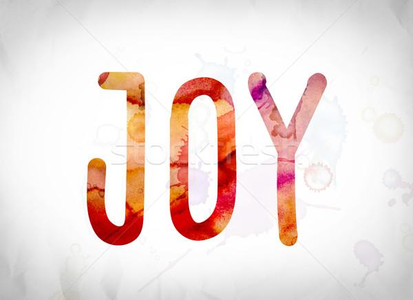 Joy Concept Watercolor Word Art Stock photo © enterlinedesign