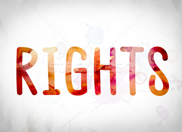 Rights Concept Watercolor Word Art Stock photo © enterlinedesign