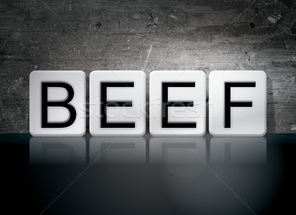 Beef Tiled Letters Concept and Theme Stock photo © enterlinedesign