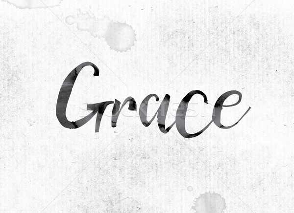 Grace Concept Painted in Ink Stock photo © enterlinedesign