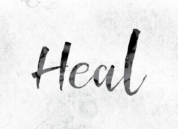 Heal Concept Painted in Ink Stock photo © enterlinedesign