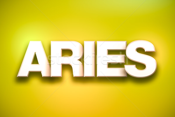 Aries Theme Word Art on Colorful Background Stock photo © enterlinedesign