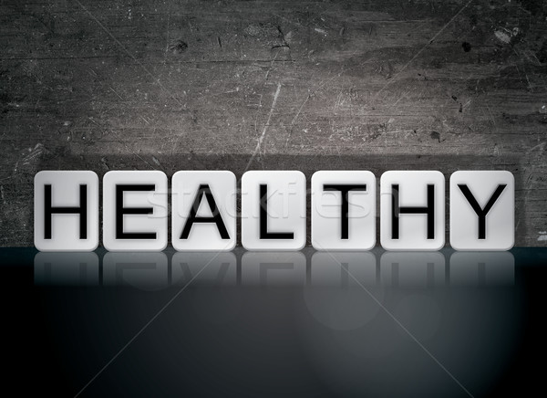 Healthy Concept Tiled Word Stock photo © enterlinedesign