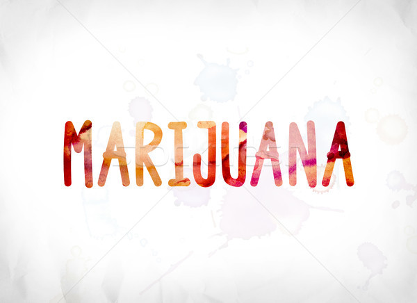 Marijuana Concept Painted Watercolor Word Art Stock photo © enterlinedesign