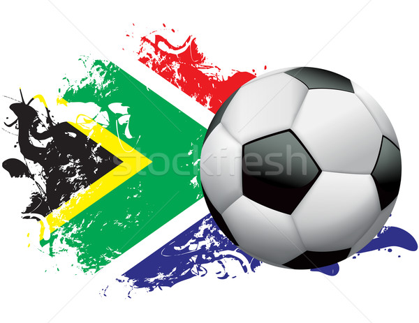 South Africa Soccer Grunge Design Stock photo © enterlinedesign