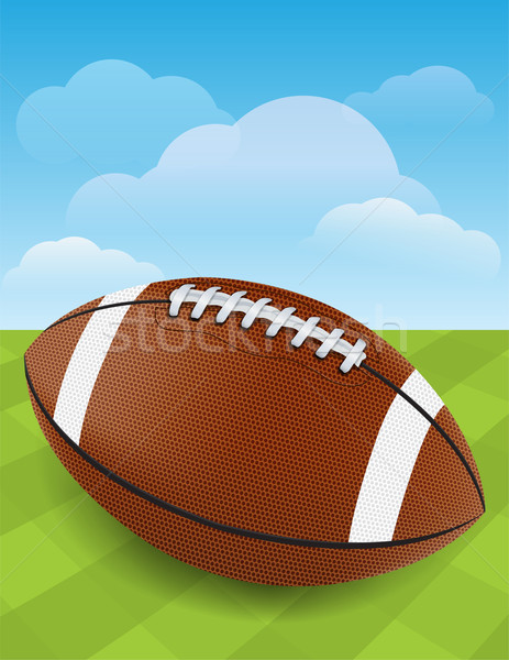 Football on Green Grass Stock photo © enterlinedesign