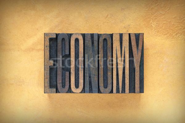 Economy Letterpress Stock photo © enterlinedesign