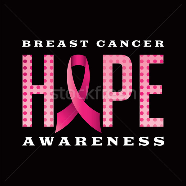Breast Cancer Awareness Hope Message Illustration Stock photo © enterlinedesign
