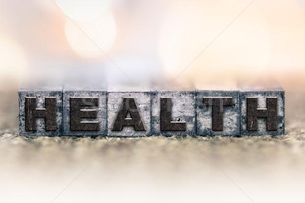 Health Concept Vintage Letterpress Type Stock photo © enterlinedesign