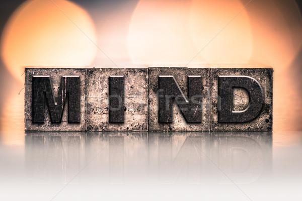 Geest vintage type woord geschreven Stockfoto © enterlinedesign