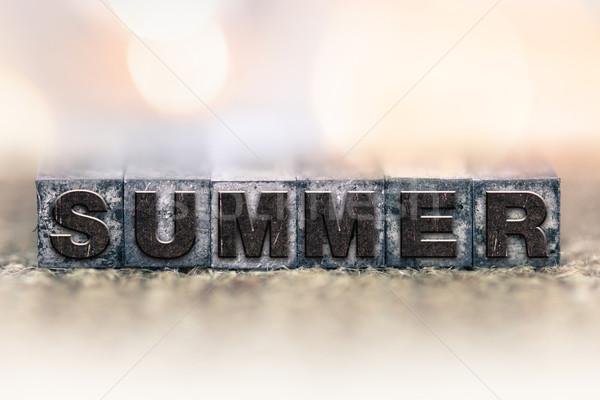Summer Concept Vintage Letterpress Type Stock photo © enterlinedesign
