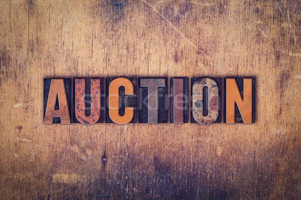 аукционе тип слово написанный Сток-фото © enterlinedesign