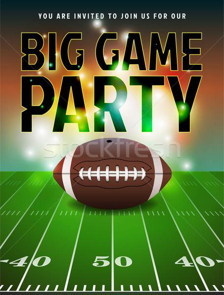 American Football Party Invitation Stock photo © enterlinedesign