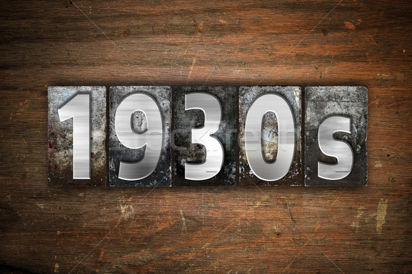 1930 métal type mot écrit Photo stock © enterlinedesign