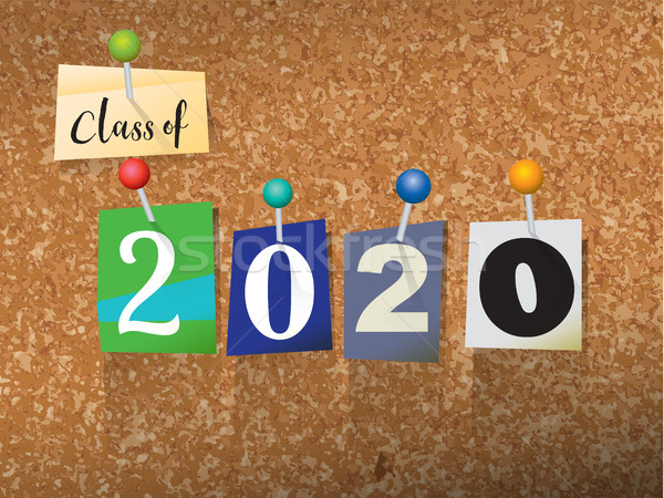 Class of 2020 Pinned Paper Concept Illustration Stock photo © enterlinedesign