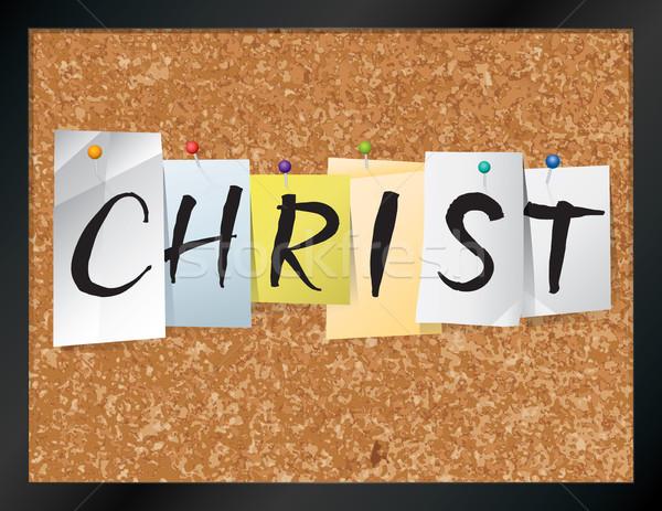 Christ boord illustratie naam geschreven Stockfoto © enterlinedesign