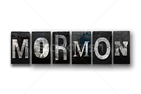 Mormon Concept Isolated Letterpress Type Stock photo © enterlinedesign