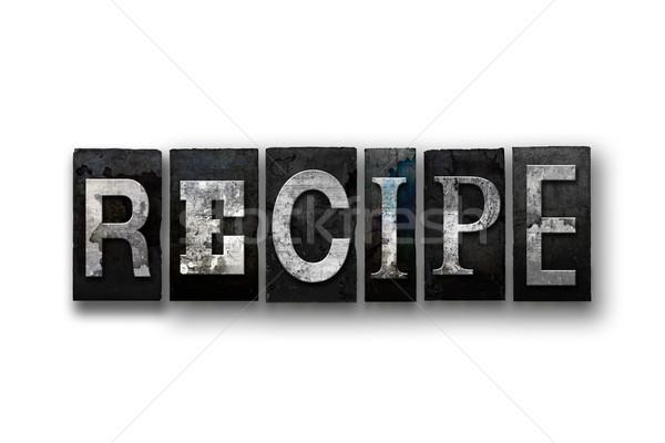 Recept izolált magasnyomás szó írott Stock fotó © enterlinedesign