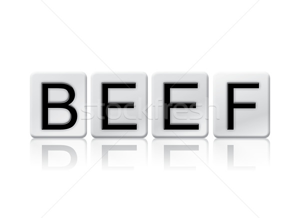 Beef Isolated Tiled Letters Concept and Theme Stock photo © enterlinedesign