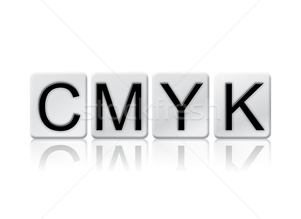 CMYK Isolated Tiled Letters Concept and Theme Stock photo © enterlinedesign