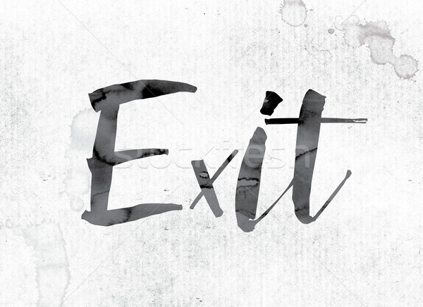 Exit Concept Painted in Ink Stock photo © enterlinedesign