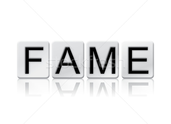 Stock photo: Fame Isolated Tiled Letters Concept and Theme