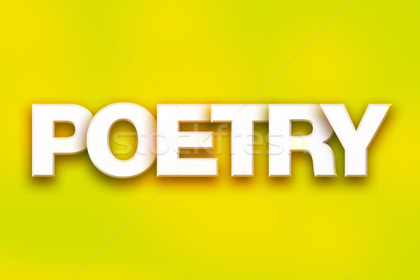 Poetry Concept Colorful Word Art Stock photo © enterlinedesign