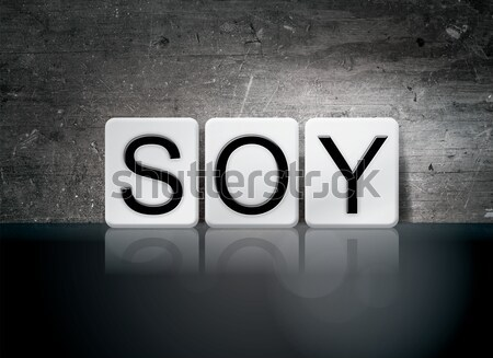 Soy Isolated Tiled Letters Concept and Theme Stock photo © enterlinedesign