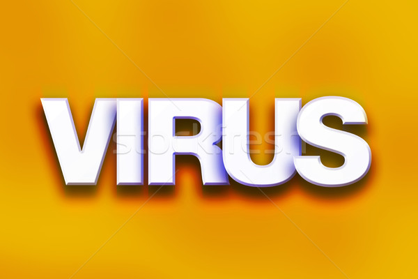 Virus Concept Colorful Word Art Stock photo © enterlinedesign
