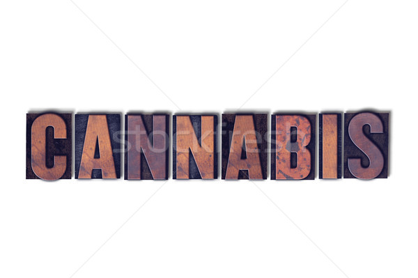 Cannabis Concept Isolated Letterpress Word Stock photo © enterlinedesign