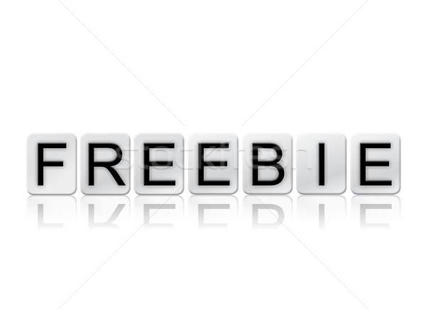 Freebie Concept Tiled Word Isolated on White Stock photo © enterlinedesign