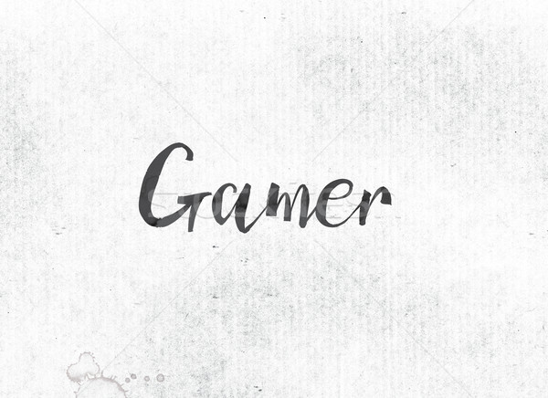 Gamer Concept Painted Ink Word and Theme Stock photo © enterlinedesign