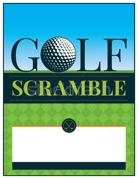 Golf Tournament Scramble Flyer Illustration Stock photo © enterlinedesign