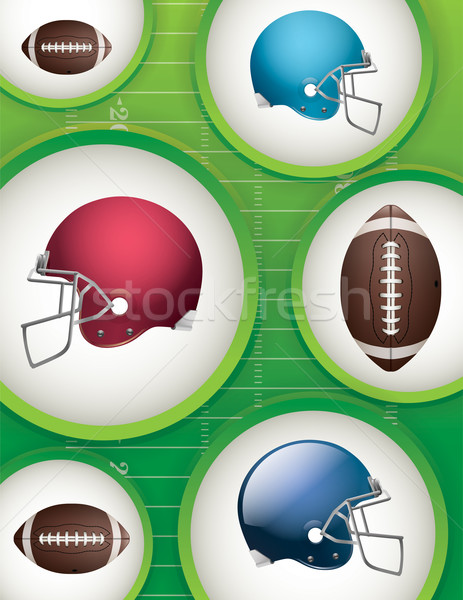 American Football Background Illustration Stock photo © enterlinedesign