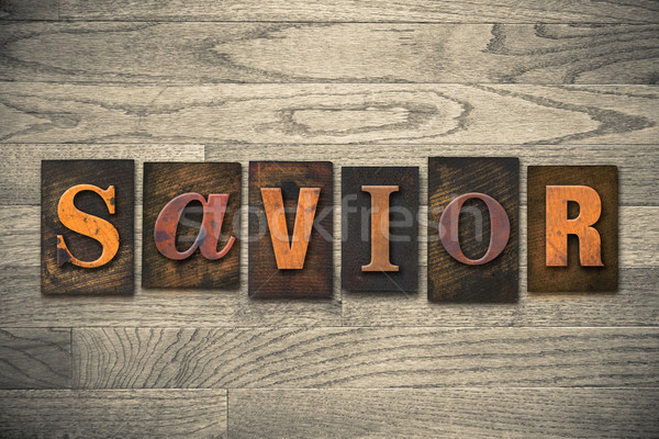 спаситель тип слово написанный Сток-фото © enterlinedesign