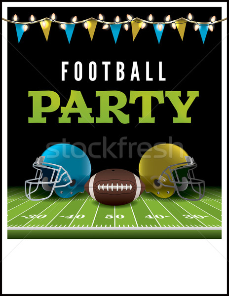 American Football Party Flyer Illustration Stock photo © enterlinedesign