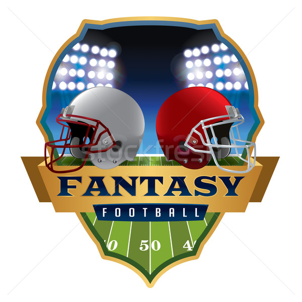 American Fantasy Football Emblem Illustration Stock photo © enterlinedesign