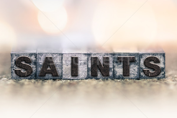 Saints Concept Vintage Letterpress Type Stock photo © enterlinedesign