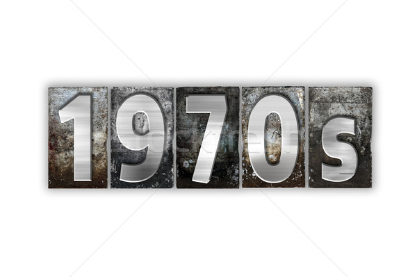 1970s Concept Isolated Metal Letterpress Type Stock photo © enterlinedesign